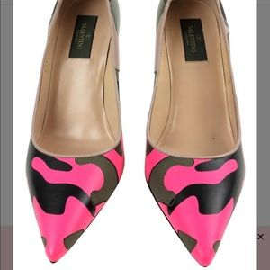 Hot Pink Camo Shoes